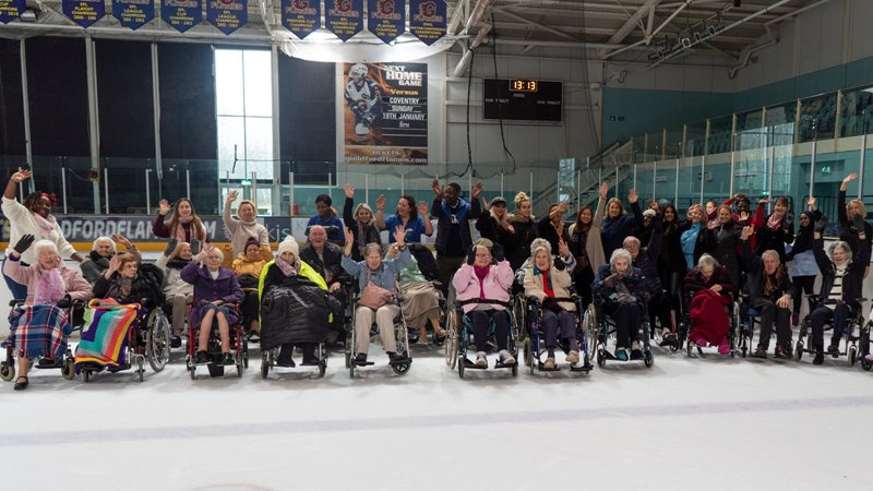 "26 care residents take to the ice at Guildford Spectrum to celebrate ""Make Your Dream Come True Day"""